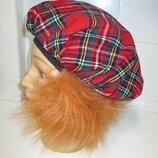 Клоун Шотландец берет головной убор кепка шапка