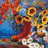 Картина По Номерам. Букеты СКАЗОЧНОЕ Утро 40 40СМ KHO3000. Квіти