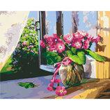 Картина По Номерам Идейка. Цветы ЛЕТНЕЕ Утро 40 50 KHO2929. Квіти. Натюрморт.