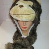 Обезьяна Горилла шапка головной убор