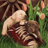 Картина По Номерам. Животные НАИГРАЛИСЬ 40 50СМ KHO4102