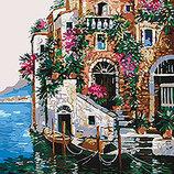 Картина По Номерам. Морской Пейзаж ЦВЕТА Тосканы 35 50СМ KHO2736