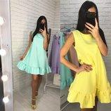 Красивое нежное платье 42 - 46 пять расцветок