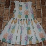 платье пышное с ананасами 3 года