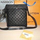 Сумка мужская планшетка Louis Vuitton кожа, Франция 3910-2