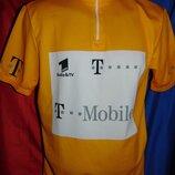 Спортивная фирменная вело футболка Италия с-м .унисекс