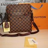 Сумка мужская планшетка Louis Vuitton кожа, Франция 155-2