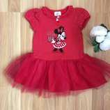 Фирменное платье disnay малышке 1-1,5 года состояние нового