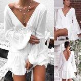 Платье креп - шифон белое 42 - 46