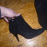 продам деми замшевые ботинки на разм 37 по стельке 24,5 см, в отличном состоянии, пересылаю