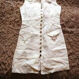 летнее платье лен С-М