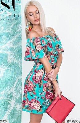 6f8677219fc Шикарное летнее платье сарафан ткань штапель модные расцветки скл.1  арт.53424