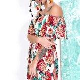 Шикарное летнее платье сарафан ткань штапель модные расцветки скл.1 арт.53423