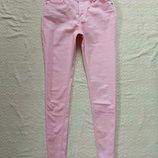 Пудровые коттоновые джинсы скинни Charles vogele, 12 размер.