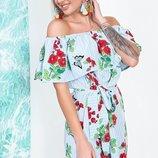 Шикарное летнее платье сарафан ткань штапель модные расцветки скл.1 арт.53422