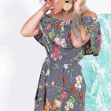 Шикарное летнее платье сарафан ткань штапель модные расцветки скл.1 арт.53421