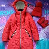 Зимняя куртка шапка варежки