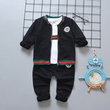 Стильный костюм тройка р. 80-110