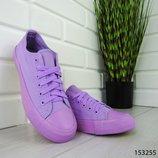Женские кеды в стиле Converse, конверсы,фиолетовые