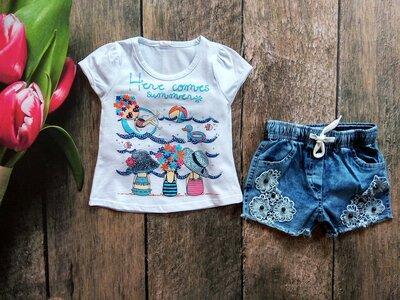 Набір для дівчинки футболка, шорти Новинка 2019