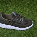 Детские кроссовки аналог Nike найк хаки сетка р31-35