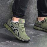 Кроссовки мужские сетка Asics Gel-Quantum 360 dark green