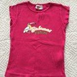 Трикотажная футболка на девочку 4-6 лет Бесплатно