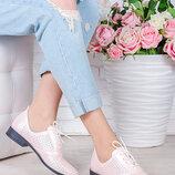 Туфли натуральная кожа пудра лето Эвелин