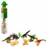 Динозавры 9689-20. Динозаври. Динозаври резинові. Динозаври для сенсорних коробочок.