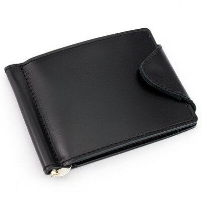 Кожаный зажим для денег Crez-31 чёрный