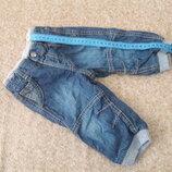 Фирменные джинсы 6-9мес