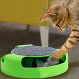 Игрушка для котов Кот и Мышь с когтеточкой Fine Pet