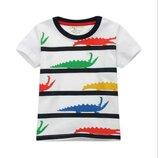 Футболка Цветные Крокодилы 2-7 лет