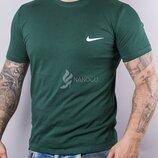 Футболка мужская Nike size хаки зеленая хлопковая