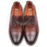 мужские классические кожаные туфли коричневы