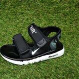 Босоножки сандалии детские на мальчика Nike black найк черные