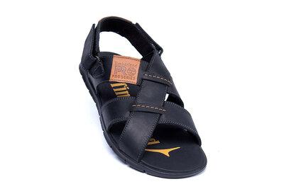 Мужские кожаные сандалии Т-7 1 черн