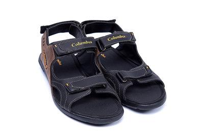 Мужские кожаные сандалии 070 черн/ол