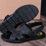 Мужские кожаные сандалии Т-2 1 черн
