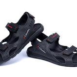 Мужские кожаные сандалии 70 черн