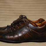 Отличные меланжевые спортивные темно-коричневые кожаные туфли Camel Active 38 р.
