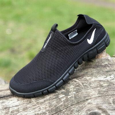 Слипоны мокасины мужские Nike сетка летние