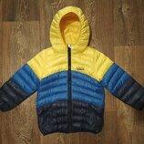р.104-110, легкая термо-куртка пуховик, отличная