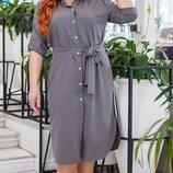 Шикарное турецкое платье-рубашка ткань супер софт с лампасами Турция все размеры скл.1 арт.53384