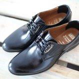 Мужские кожаные классические туфли Vivaro черные 40, 41, 42, 43, 44, 45