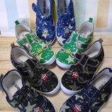 Текстильные сандалии-мокасины для мальчиков 4 расцветки