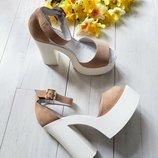 Удобные женские босоножки из натуральной кожи на высоком каблуке Супер качество