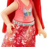 Barbie Барби Дримтопия Челси с красными волосами DVN03 Dreamtopia Rainbow Cove Sprite Doll Pink
