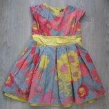 Велюровое платье M&S для девочки 4-5 лет.
