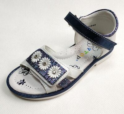 Детские босоножки сандалии для девочек синяя ромашка y.top 26р-31р 4122